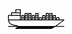navio carregando vários contêineres sem ter a confirmação do peso correto
